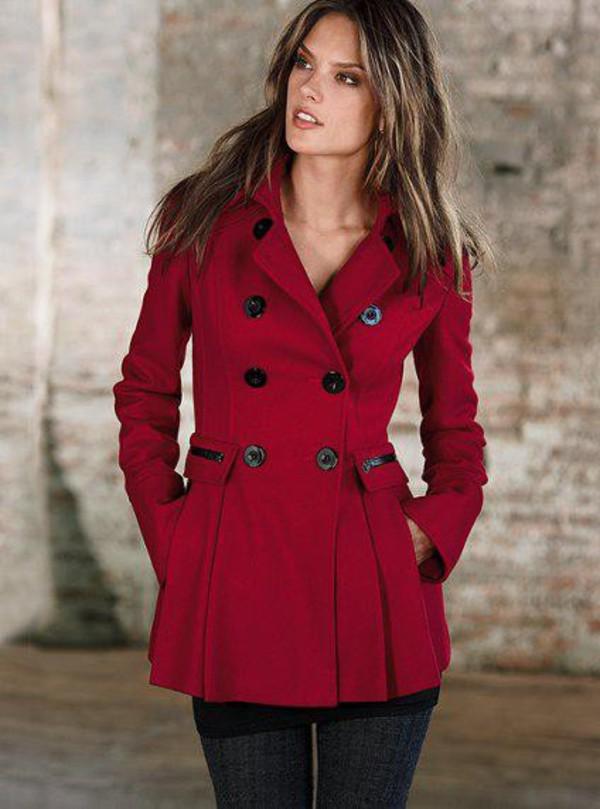 Online Shop 2015 winter spring light white wool coat trench coat