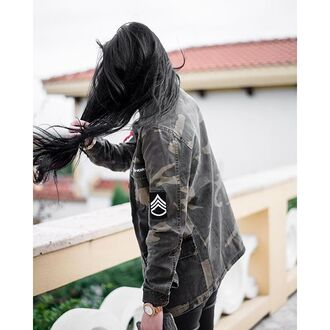 jacket maniere de voir camouflage military style shirt badge patch mdv