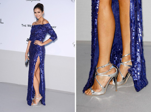 metallic celebrity shoes brand sandals red carpet high heels