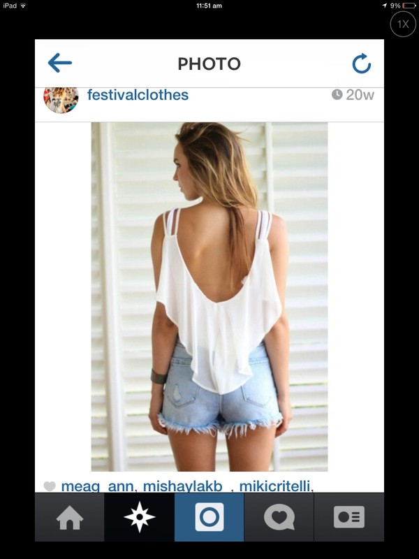 shirt top shorts girl white festival