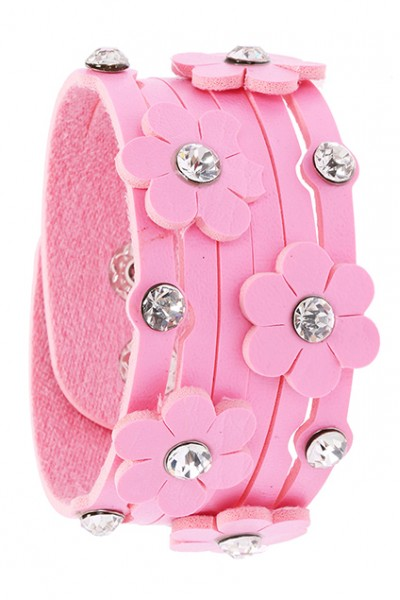 KCLOTH Diamante Flower Embellished Bracelet