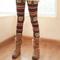 Womens snowflake reindeer warm knit knitted leggings tights pants trousers | ebay
