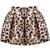 Khaki Leopard Flare Mini Skirt - Sheinside.com