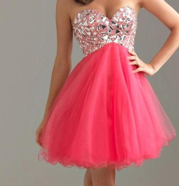 dress pink dress pink gemstone sparkling dress glitter girly glitter bustier