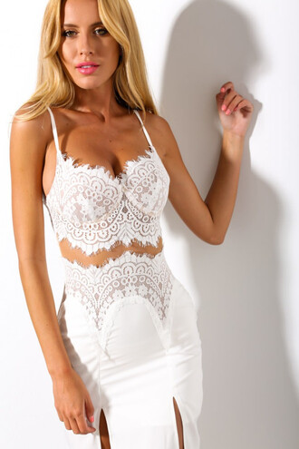 dress maxi lace sexy chic wots-hot-right-now maxi dress white white dress side split maxi dress front slit skirt party dress
