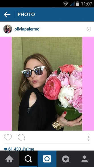 sunglasses black sunglasses couture olivia palermo