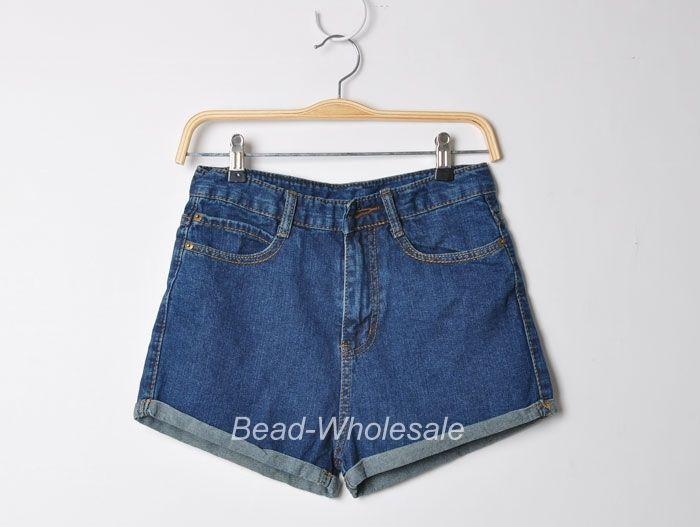 Fashion Lady's Retro Denim High Waist Flange Blue Jean Shorts Pants New Arrival | eBay