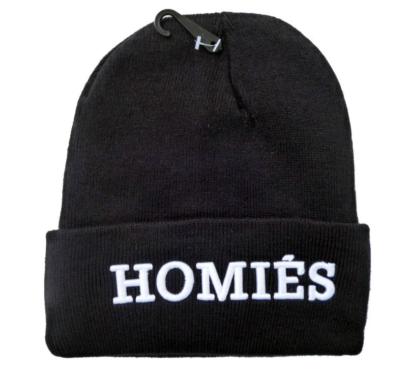 2013 New Arrival HOMIES Beanie hats black white grey gold cheap fashion sports winter knitted caps high quality Free shipping-in Skullies & Beanies from Apparel & Accessories on Aliexpress.com