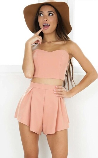 jumpsuit two-piece shorts cute stylish summer two piece dress set