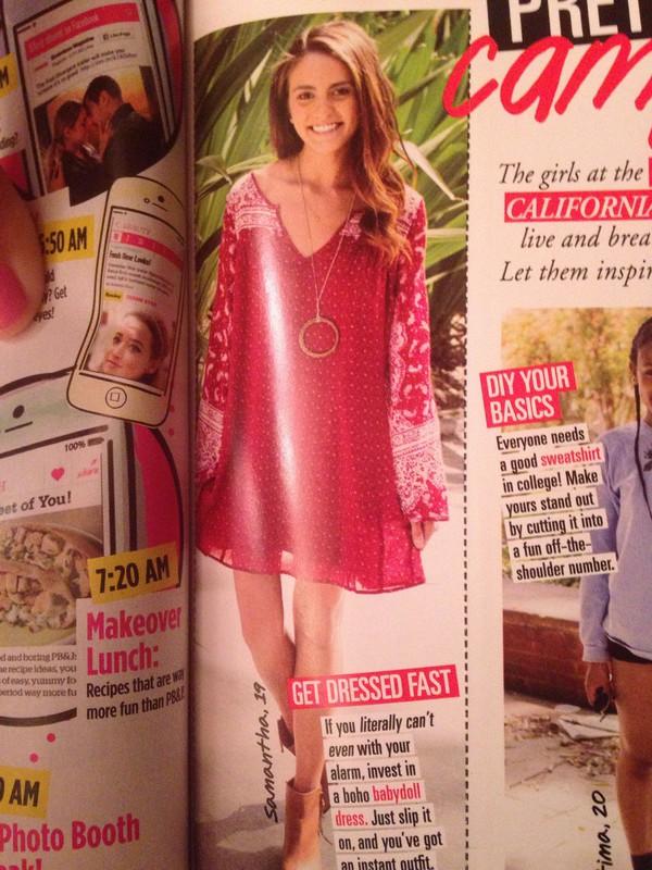 red dress boho babydoll dress california girl beauty girl basic dress