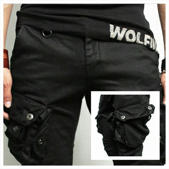 black pants cargo pants