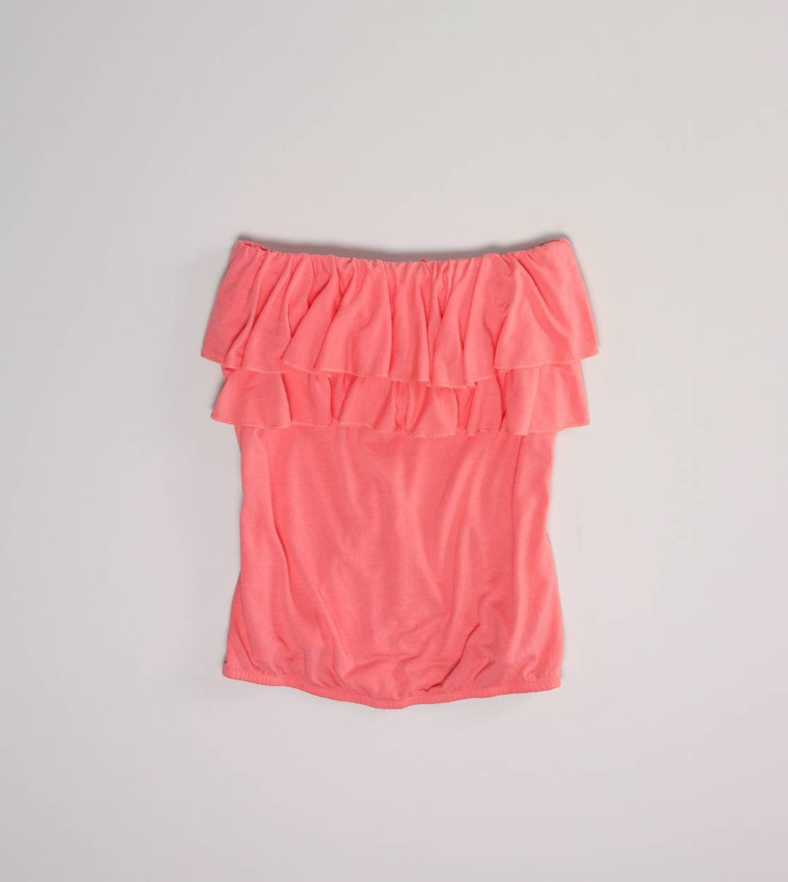 AE Ruffled Tube Top on Wanelo