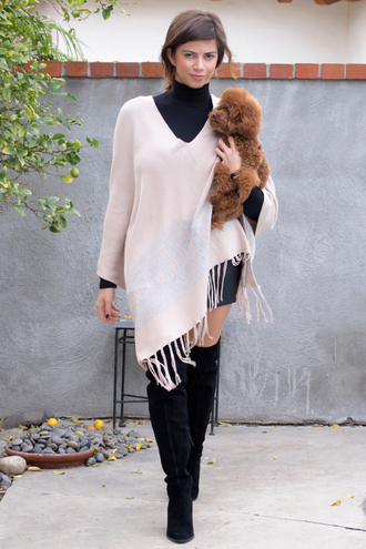 cardigan poncho fringe fringes fall outfits boots fashion style bohemian boho chic outfit musthave