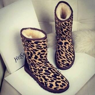 shoes leopard print ugg boots