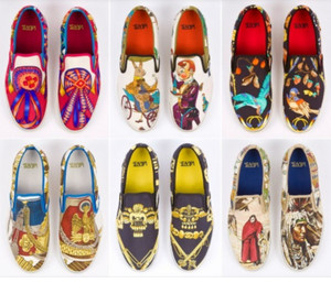 shoes vans black red blue yellow gold brown indian rabbit birds