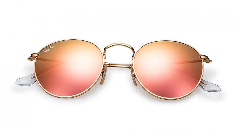 ray ban sonnenbrille round flash lenses kupfer. Black Bedroom Furniture Sets. Home Design Ideas