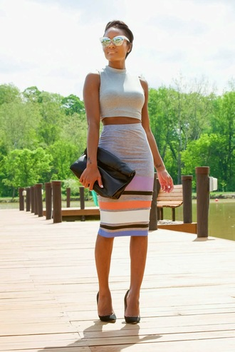 the daileigh top skirt sunglasses bag shoes