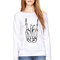 Wideneck - skeleton rock hand - oversized sweatshirt sweater jumper pullover slouchy grunge sweater rock