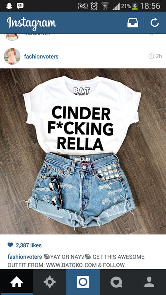 t-shirt white top cinderella
