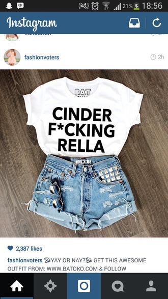 t-shirt white tops cinderella