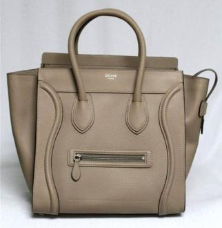 celine mini luggage tote beige