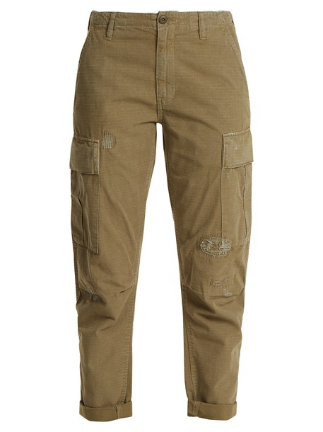 RE/DONE ORIGINALS cotton khaki pants