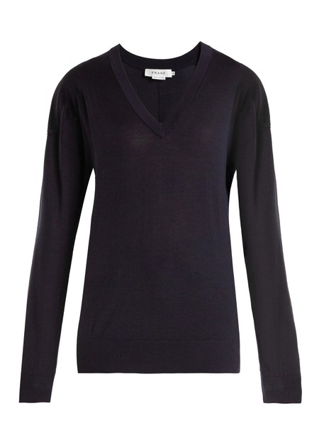 FRAME sweater wool sweater wool navy