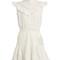 Tulsi flutter lace-trimmed dress