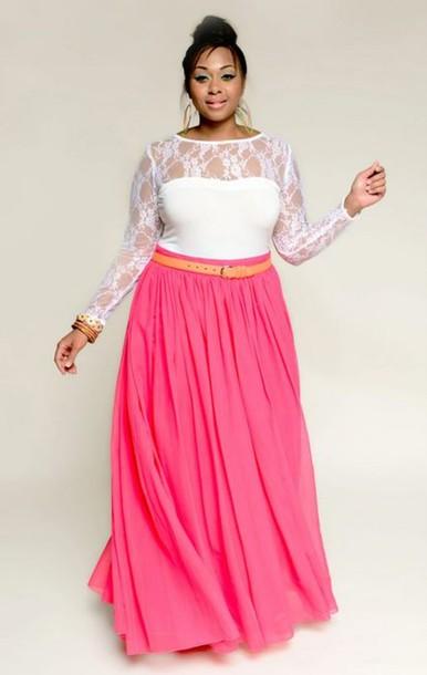 2b2e142d423 blouse lace top mesh floral donna ricco white plus size plus size skirt  curvy maxi skirt