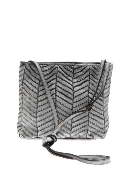 Majo bag leather bag leather silver