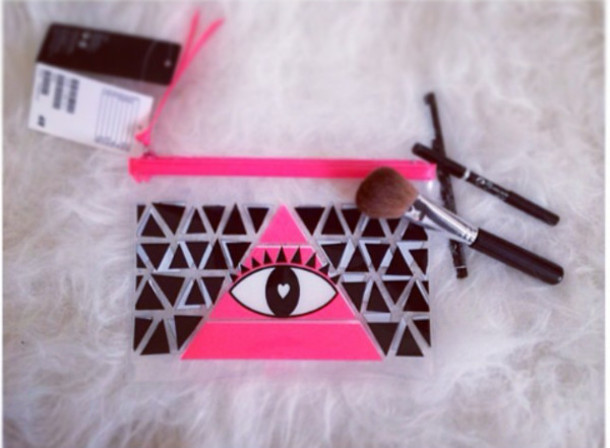 bag, pink, eye makeup, cosmetic bag, sugar cosmetics, bag ...