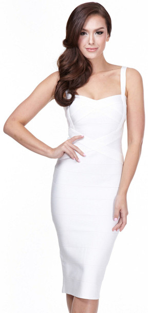 Dress: dream it wear it bandage bandage dress white white ...