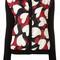 Boutique moschino love heart motif cardigan, women's, size: 46, black, polyester/virgin wool/wool