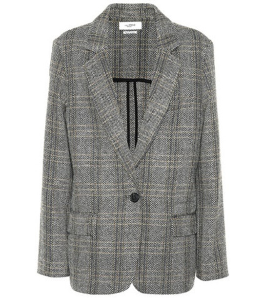Isabel Marant, Étoile Charly checked wool blazer in grey