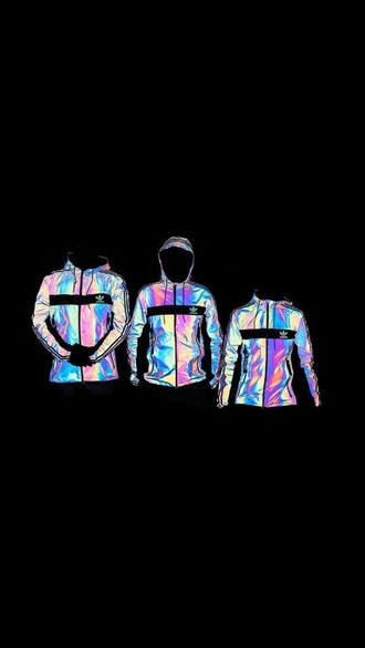 jacket adidas iridescent tracksuit hoodie xeno reflective glow in the dark adidas jacket adidas originals holographic nike adidas sweater colorful holographic windbreaker sporty sliver addias jacket coat adidas windbreaker windbreaker black addias sweater sweater multicolor black coat adidas tracksuit clothes top pants adidas superstars adidas iridescent sportswear