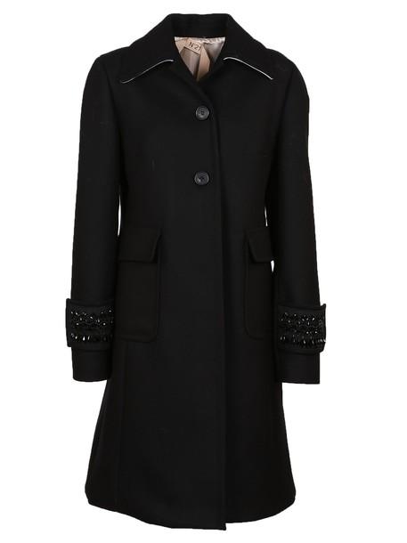 N.21 coat embellished