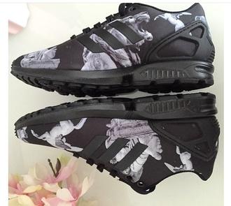 shoes black grey lions adidas