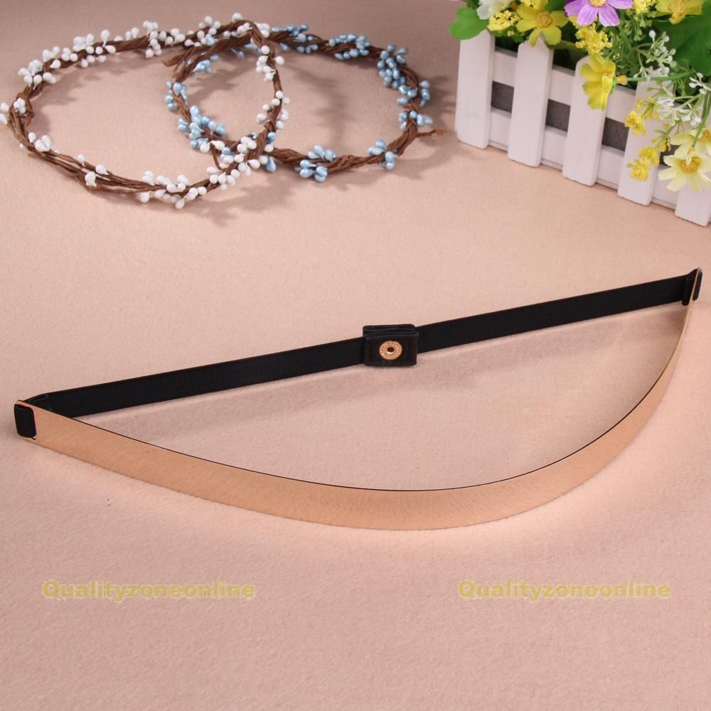 QZO Fashion Slim Gold Plated Mirror Metal Plate Waistband Waist Belt for Women | eBay