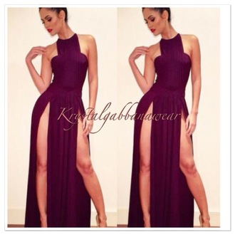dress black maxi dress black dress long dress long slit slit dress high slit sleeveless dress sleeveless