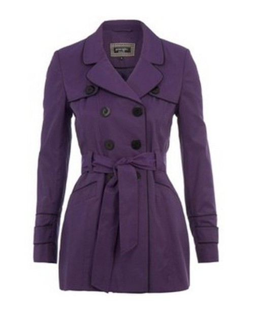 jacket purple trench coat
