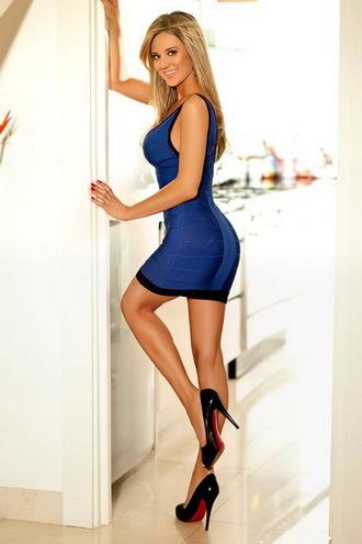 dress bandage dress sexy dress mini dress blue dress