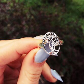 jewels cherry diva tree knuckle ring ring boho boho ring boho jewelry silver silver ring silver jewelry
