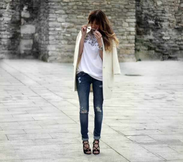 rebel attitude blogger jacket jeans t-shirt bag shoes