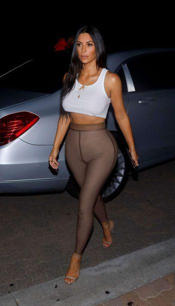 Kim Kardashian White Tank Top
