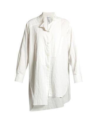 shirt oversized cotton white top