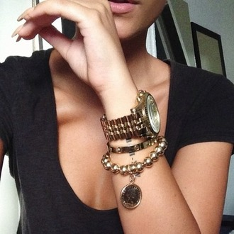 jewels accessories black top classy bracelets