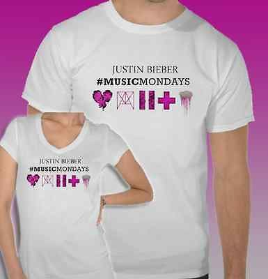 Justin Bieber New Musicmondays Heartbreaker Mens Ladies T Shirt Top All Sizes | eBay