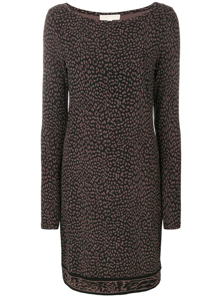 MICHAEL Michael Kors dress shift dress women spandex print brown