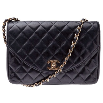 bag chanel black quilted quilted bag