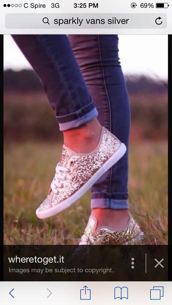 shoes vans silver